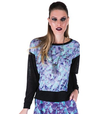 BLUSA COSTAS TRICOT CRISTAIS COLOR