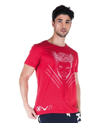 T-SHIRT MC GOLA NORMAL VERMELHA JACKMAN