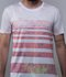 T-SHIRT MC GOLA NORMAL BRANCA GELO LISTRAS