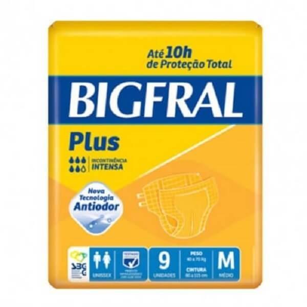 f891e09a2 Fralda geriatrica Bigfral Plus tamanho médio com 9 unidades