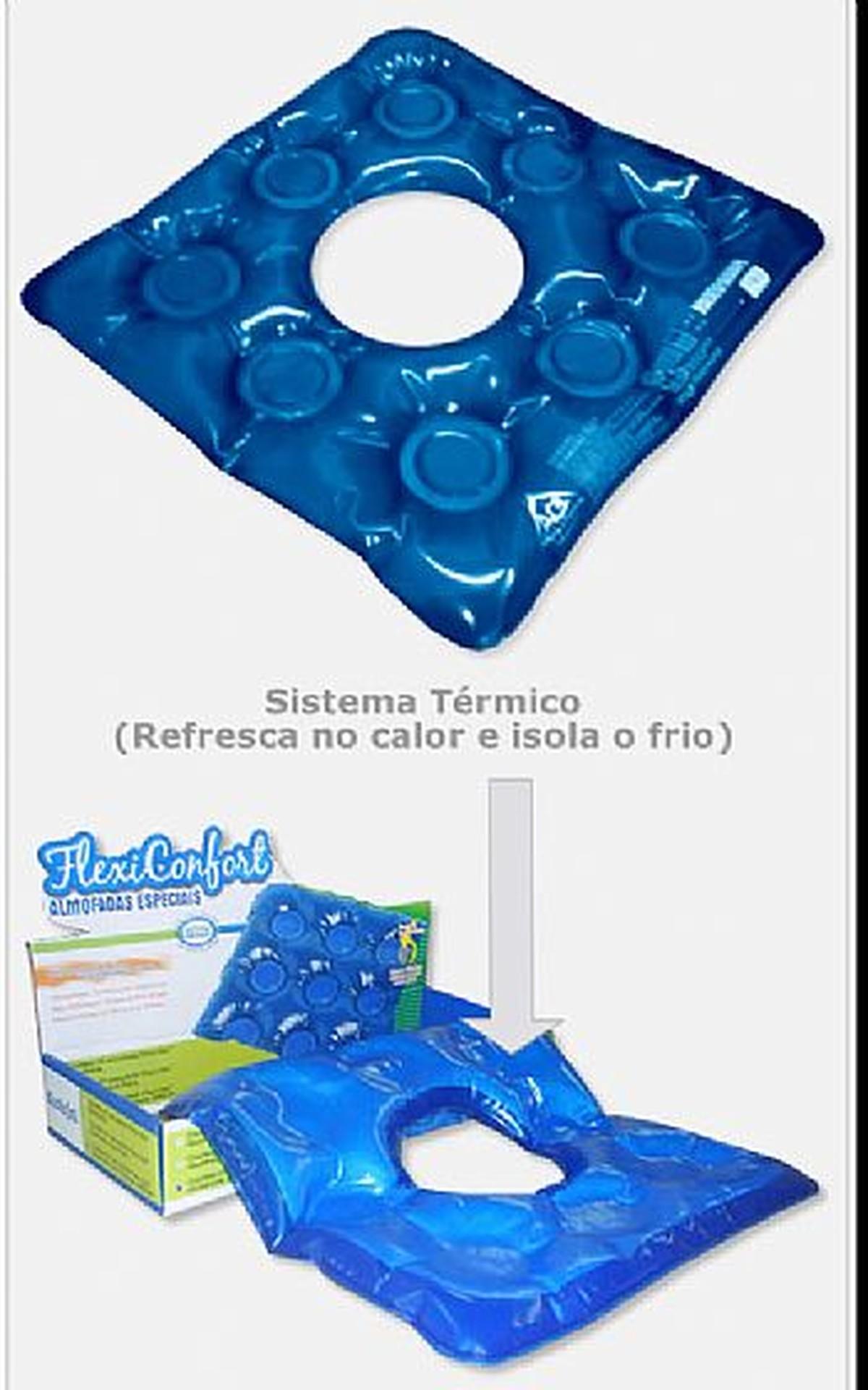 04e11bd08eaa Foto do produto Almofada de Gel Quadrada Com Orificio - Ref: 1013 AG  Plastico