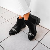 Bota Chelsea Black Chain
