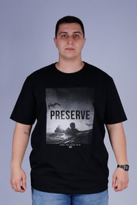 CAMISETA OCEANO PRESERVE RECICLE PLUS SIZE