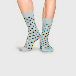 Meia Happy Socks Mini Diamond Cinza