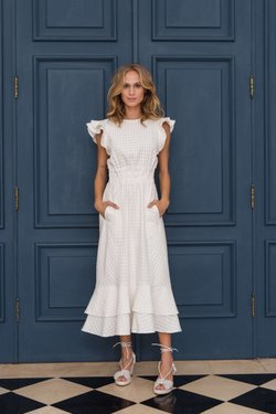 Vestido Rose Off White