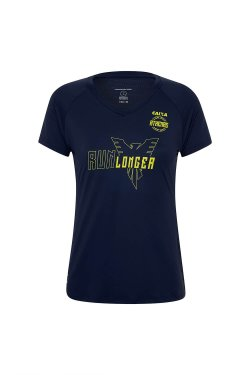 Camiseta Athenas Longer 21K 2017 Mc Fem Azul