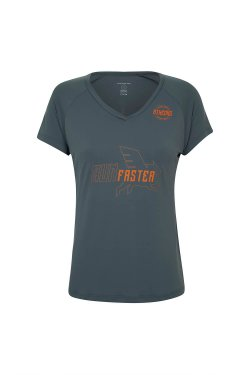Camiseta Athenas Run Faster 2017 Mc Fem Cinza