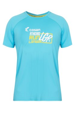 Camiseta Athenas Run Longer Azul Clara Masc