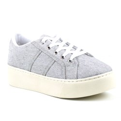 Tenis Tag Shoes Lona Flatform Cinza