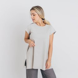 BLUSA ABERTURA LATERAL DUPLA FACE - OFFWHITE