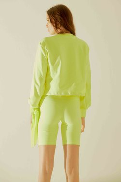 Short Biker Light Yellow