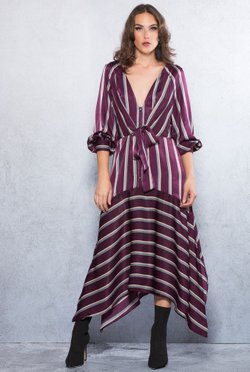 Vestido Amarracao Duo Stripes