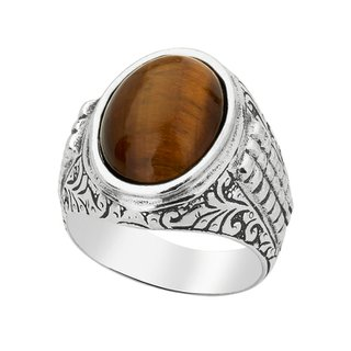 Anel - Fibula 100% Prata & Olho de Tigre | Ring – Fibula 100% Silver and Tiger Eye