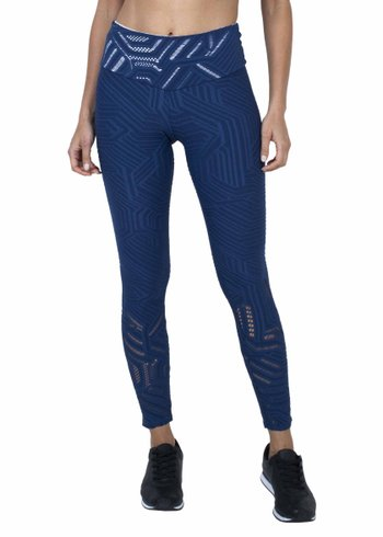 Legging Essencial  Deep Blue Jacquard
