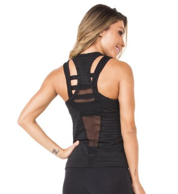 Blusa Intense Black Tulle