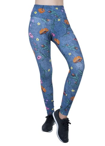 Legging Jeans Flowers