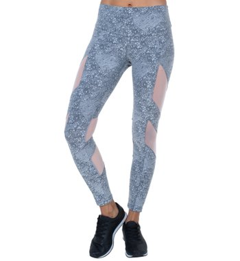 Legging Energy Gray Jacquard Tulle
