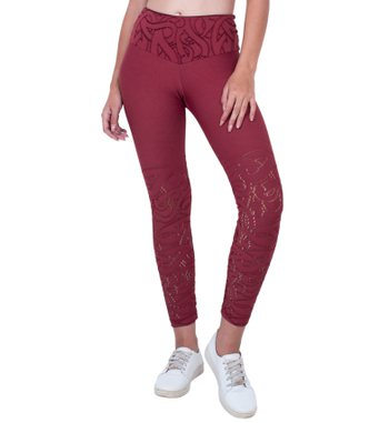 Legging Essencial  Red Land Jacquard