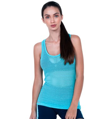 Blusa Enjoy Blue Mesh