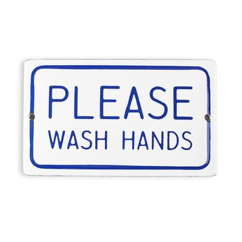 PLACA PLEASE WASH HANDS Pequena