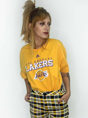 T-Shirt Vntage Lakers Yellow