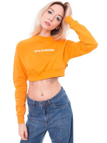 Moletom cropped DEVIL laranja