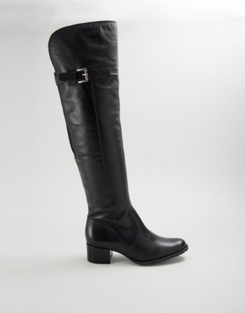 BOTA OVER THE KNEE FIVELA COURO PRET