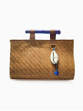 HANDBAG BLUE TROPICAL SOLEAH