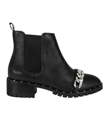 CHELSEA BOOT BLACK CHAIN