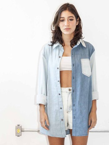 Camisa Oversized Jeans 3 Cores