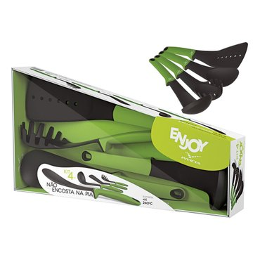Kit Enjoy Utensílios Verde Light