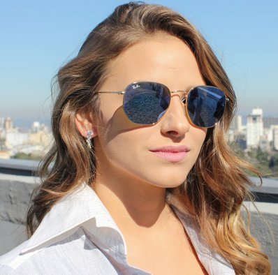 Óculos de Sol Ray Ban Hexagonal RB3548N-001/30 54
