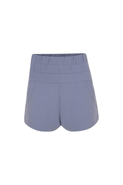 Shorts Crepe Solid Blueberry Ver20