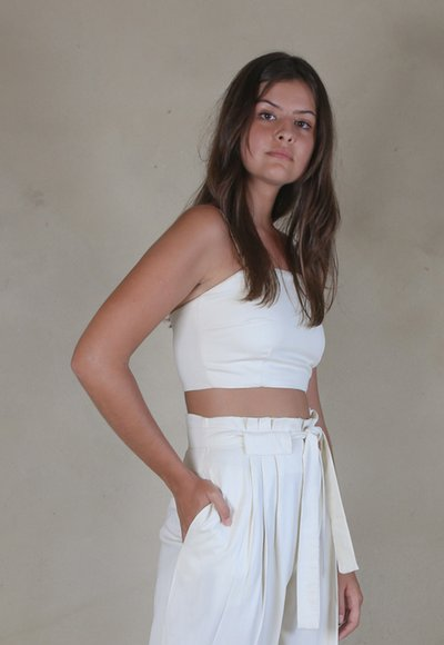 Top Cropped Creme