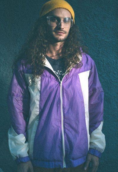 Windbreaker Paraquedas Roxo Off-White
