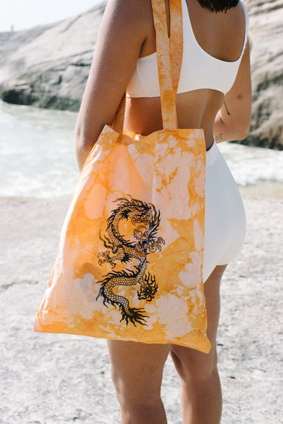 Ecobag Dragon Orange Tie Dye