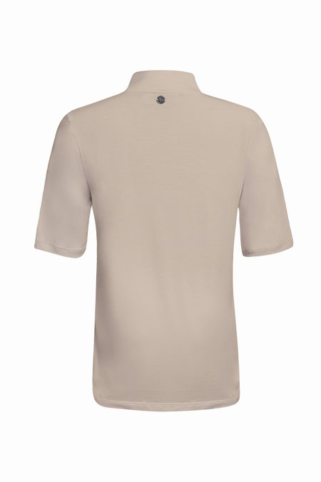 T-SHIRT GOLA TURTLENECK MODAL - NUDE