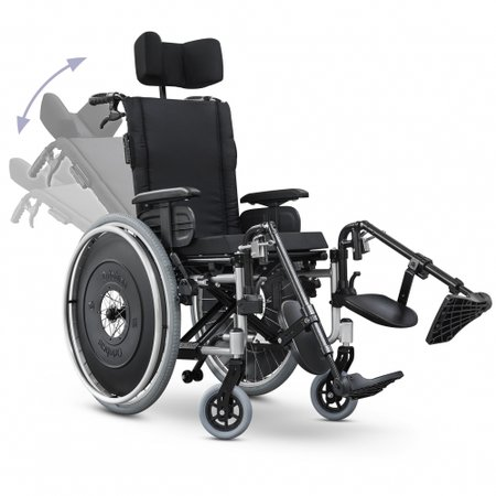 6246f73ee Cadeira de Rodas Reclinável AVD Alumínio Ortobras Dobrável X com Apoio de  Cabeça