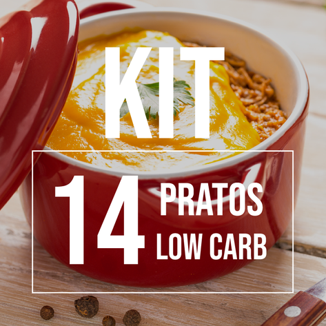 Kit 14 Pratos Low Carb