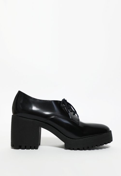 MORGAN oxford de salto - preto (vegan)
