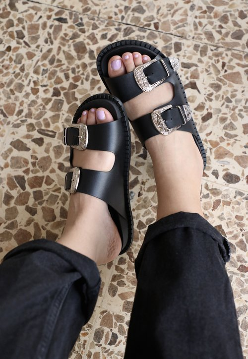 BIRKEN west - preto (vegan)