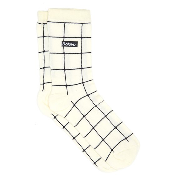 Grid Socks Branca