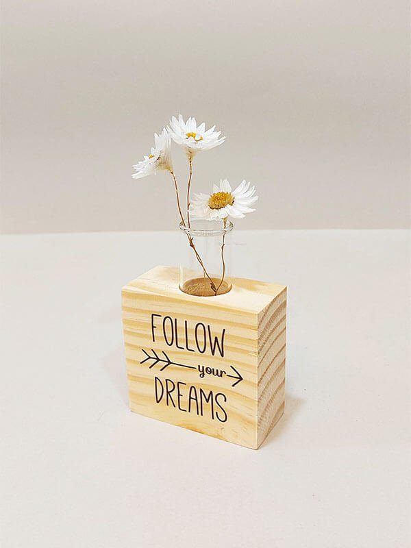 Mini Cubo com Imã Follow Your Dreams
