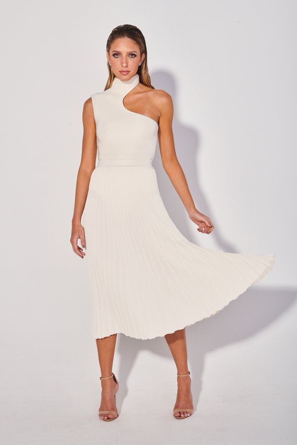 Foto do produto Saia Tricot Perli Off-White | Perli Tricot Skirt Off-White