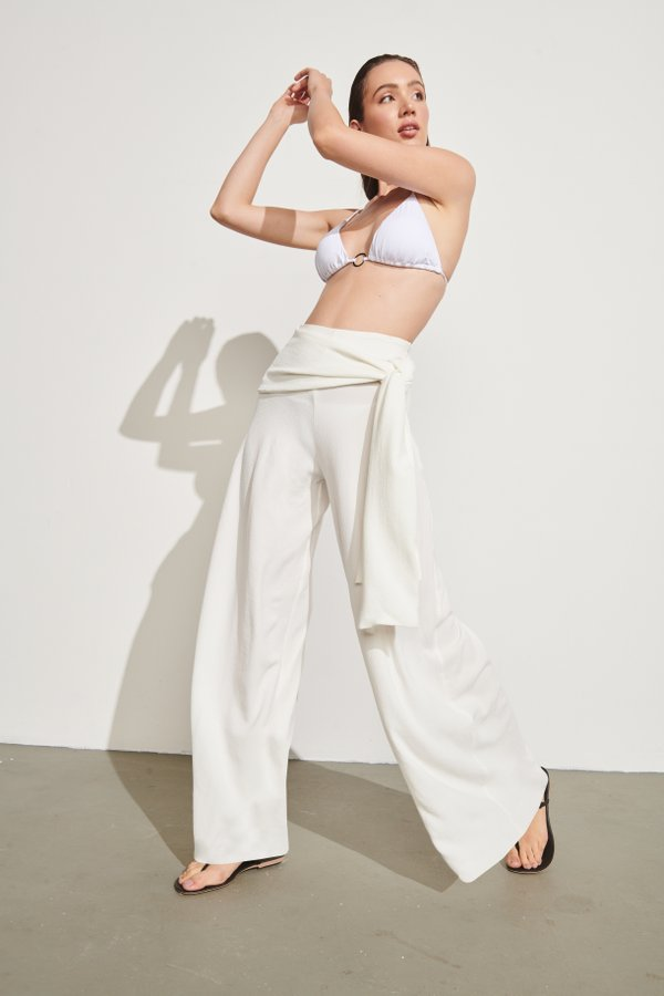 Foto do produto Pantalona Jeri Off-White | Jeri Wide-Pants Off-White