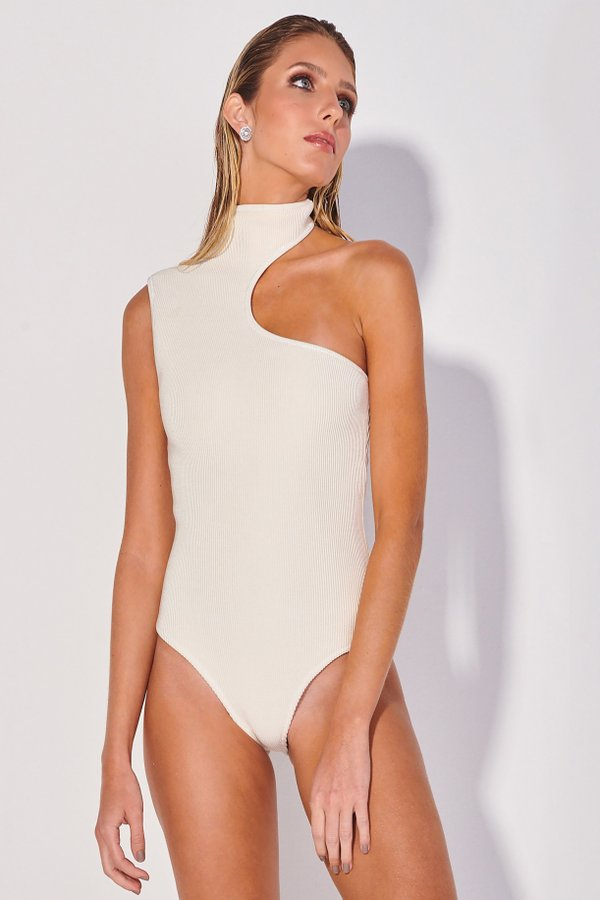 Foto do produto Body Tricot Perli Off-White | Perli Tricot One-Piece Off-White
