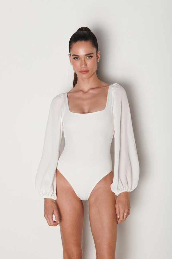 Foto do produto Body Robie Off-White | Robie One-Piece Off-White