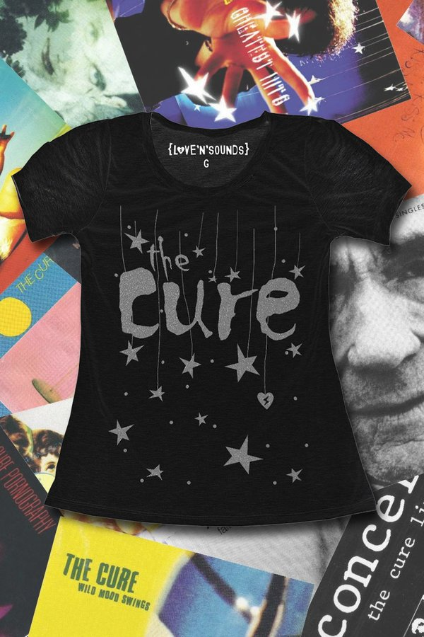 Foto do produto T-SHIRT THE CURE SILVER SOUNDS