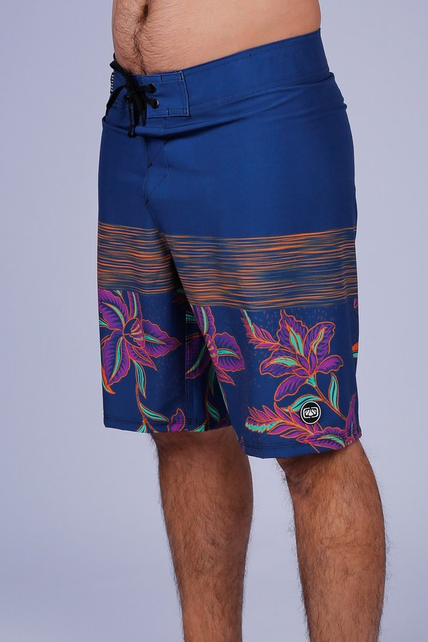BERMUDA BOARDSHORT FLORAL NEON PERFORMANCE STRETCH OCEANO