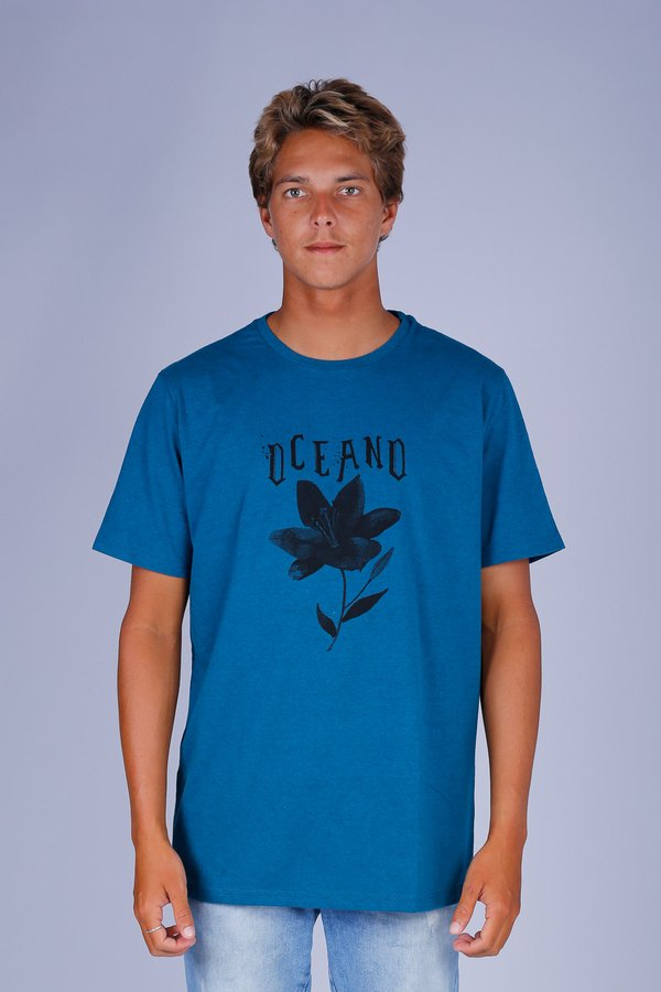 CAMISETA OCEANO FLOWER MESCLA COLOR